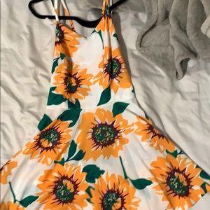 sunflower skater dress